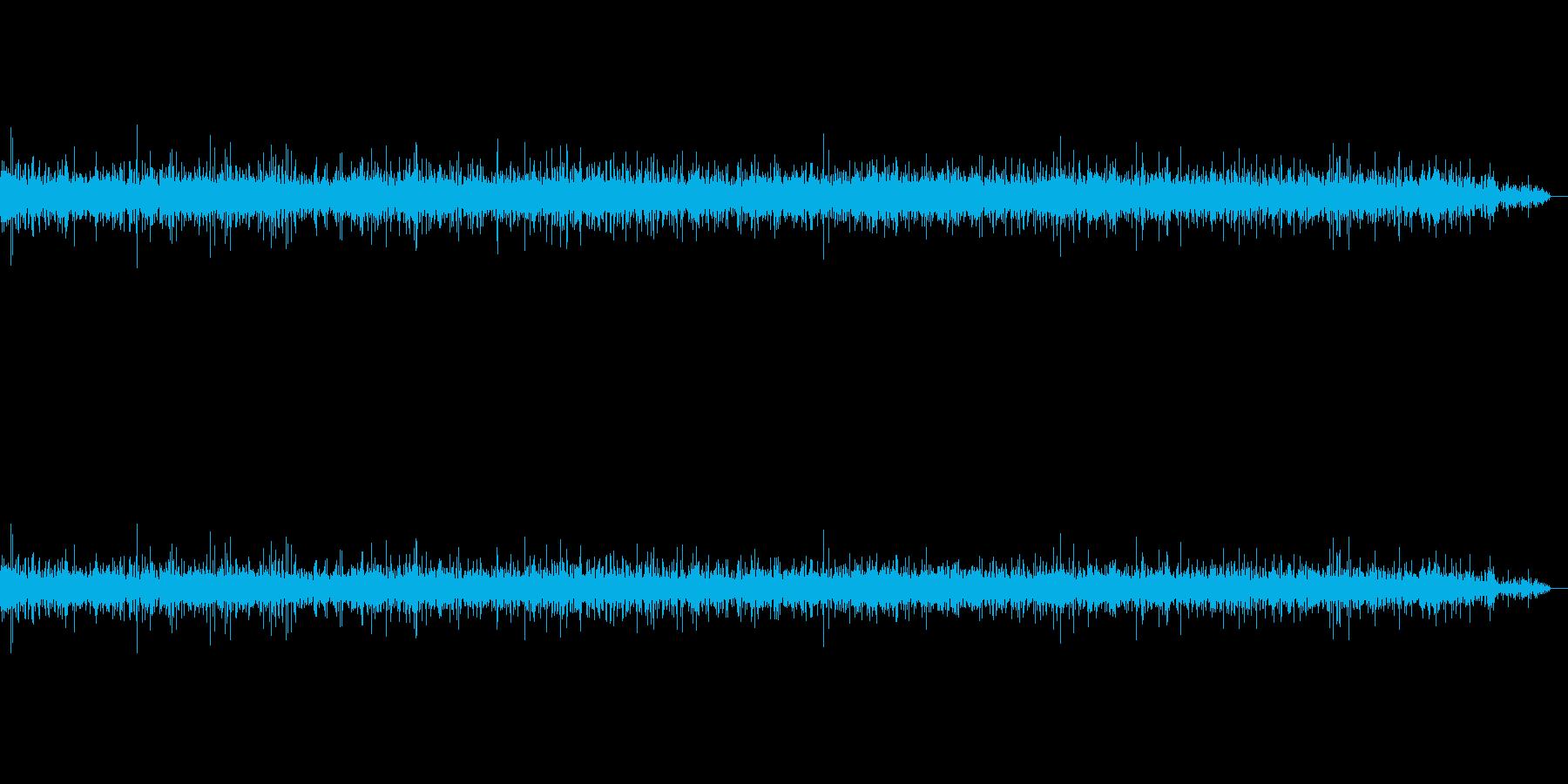 洗面所の水が流れる音の再生済みの波形