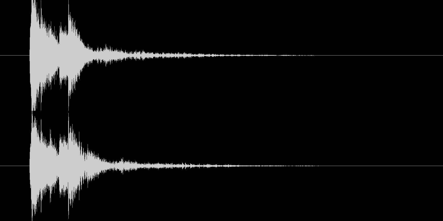 琴の和風サウンドの未再生の波形