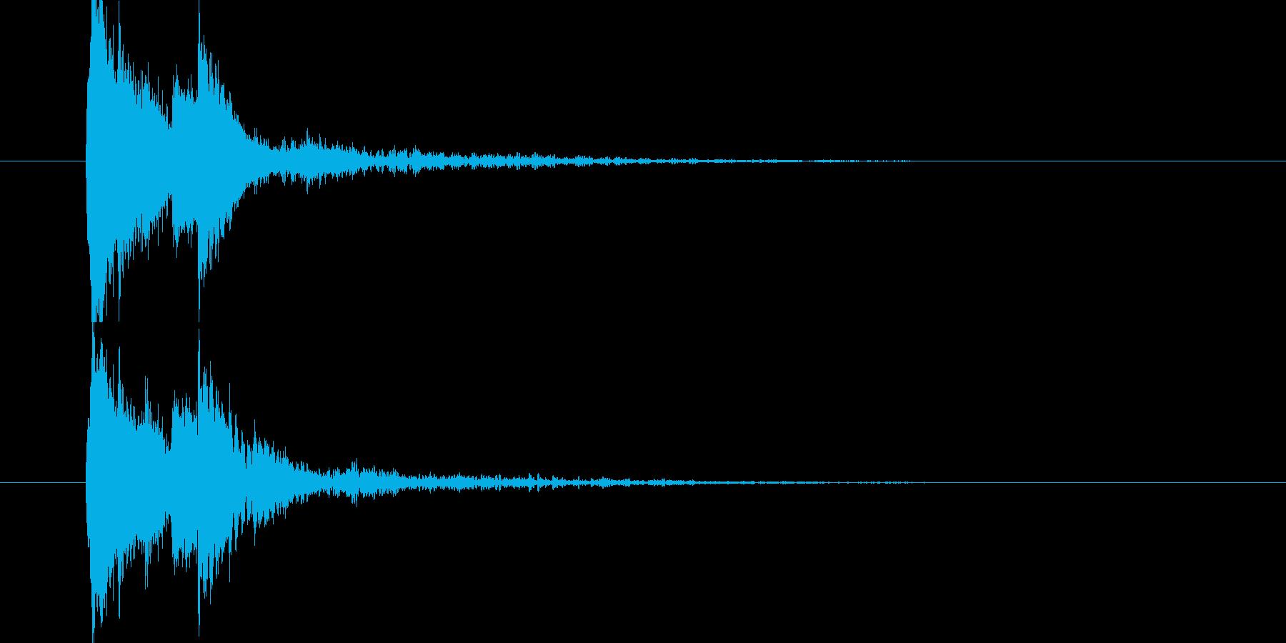 琴の和風サウンドの再生済みの波形