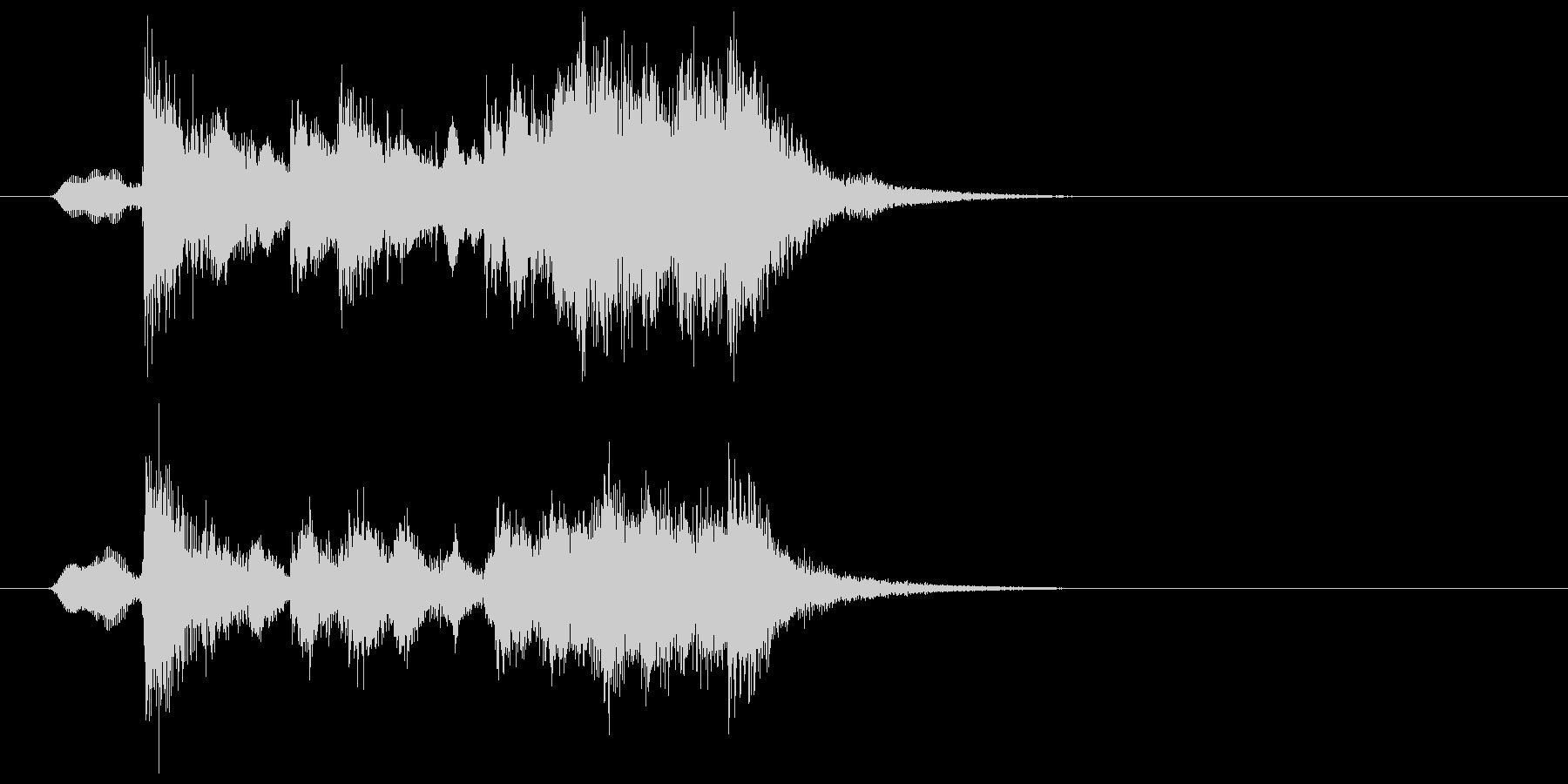 可憐でキャッチ―なポップジングルの未再生の波形