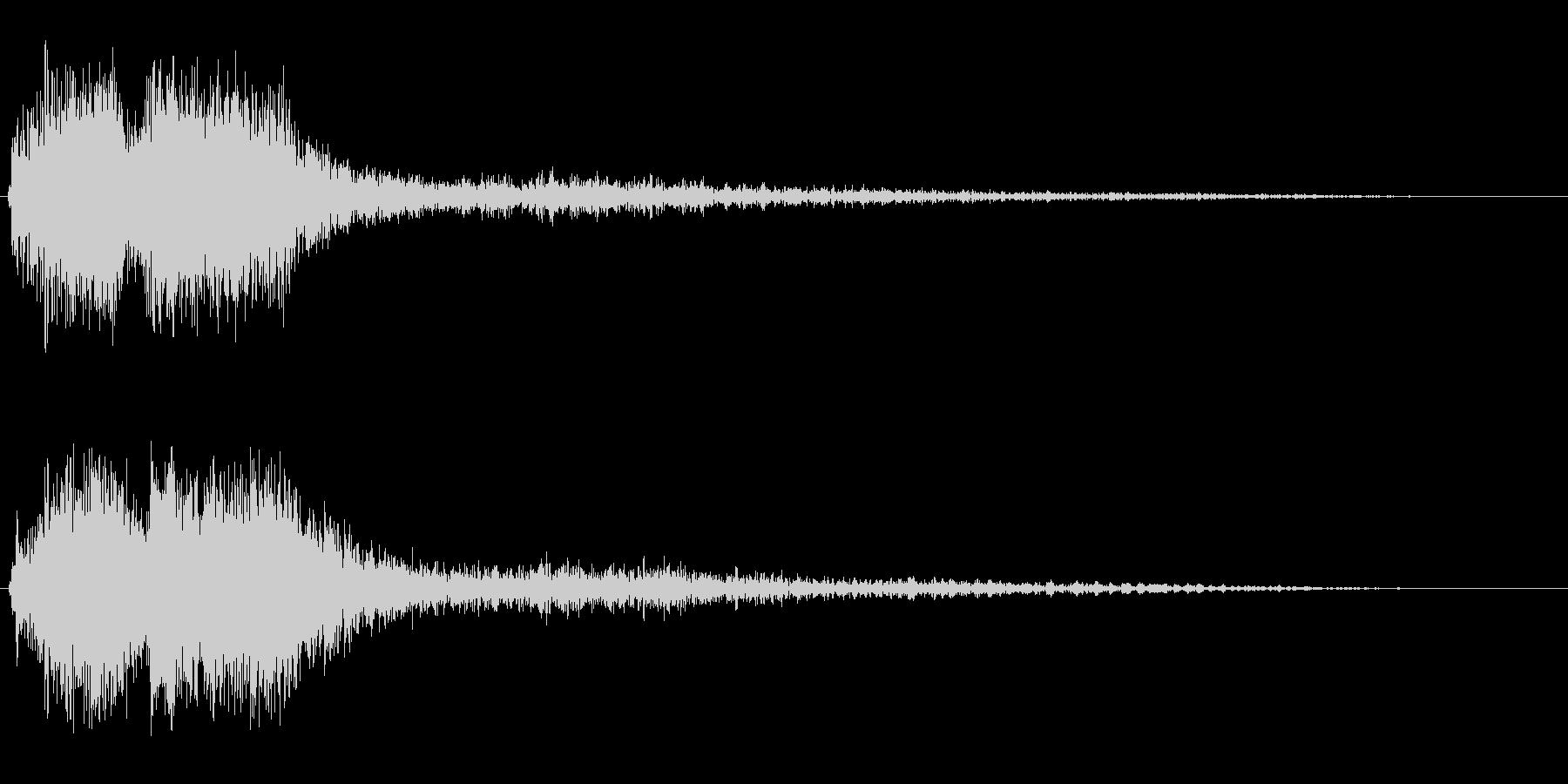 レーザービームが発射される効果音の未再生の波形