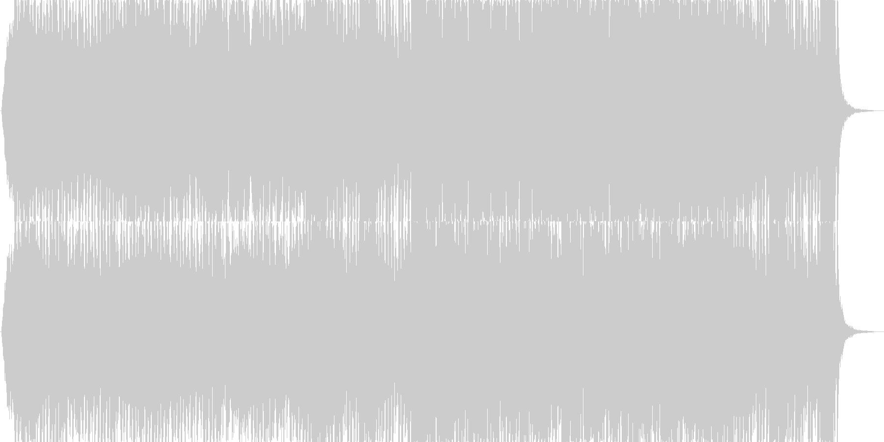 戦闘シーンや盛り上がるシーンに使える曲の未再生の波形