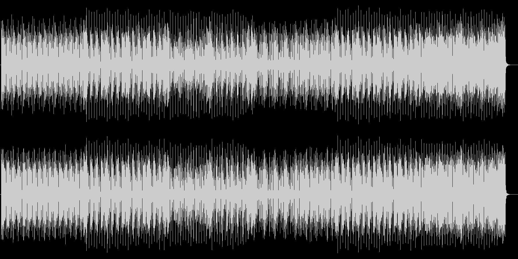アップテンポで躍動感溢れるポップスの未再生の波形