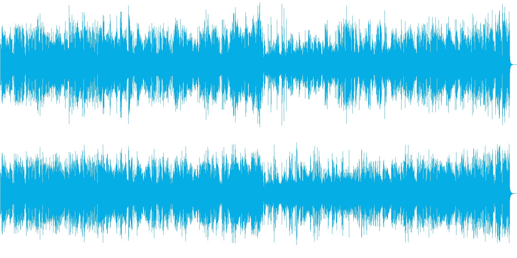 アルトサックスとギターのジャズBGMの再生済みの波形