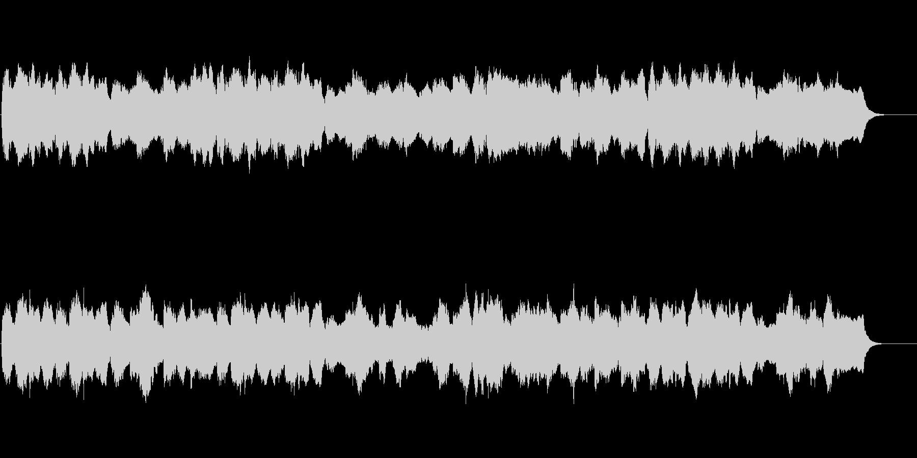バロック風の四声の曲でお城のイメージの未再生の波形