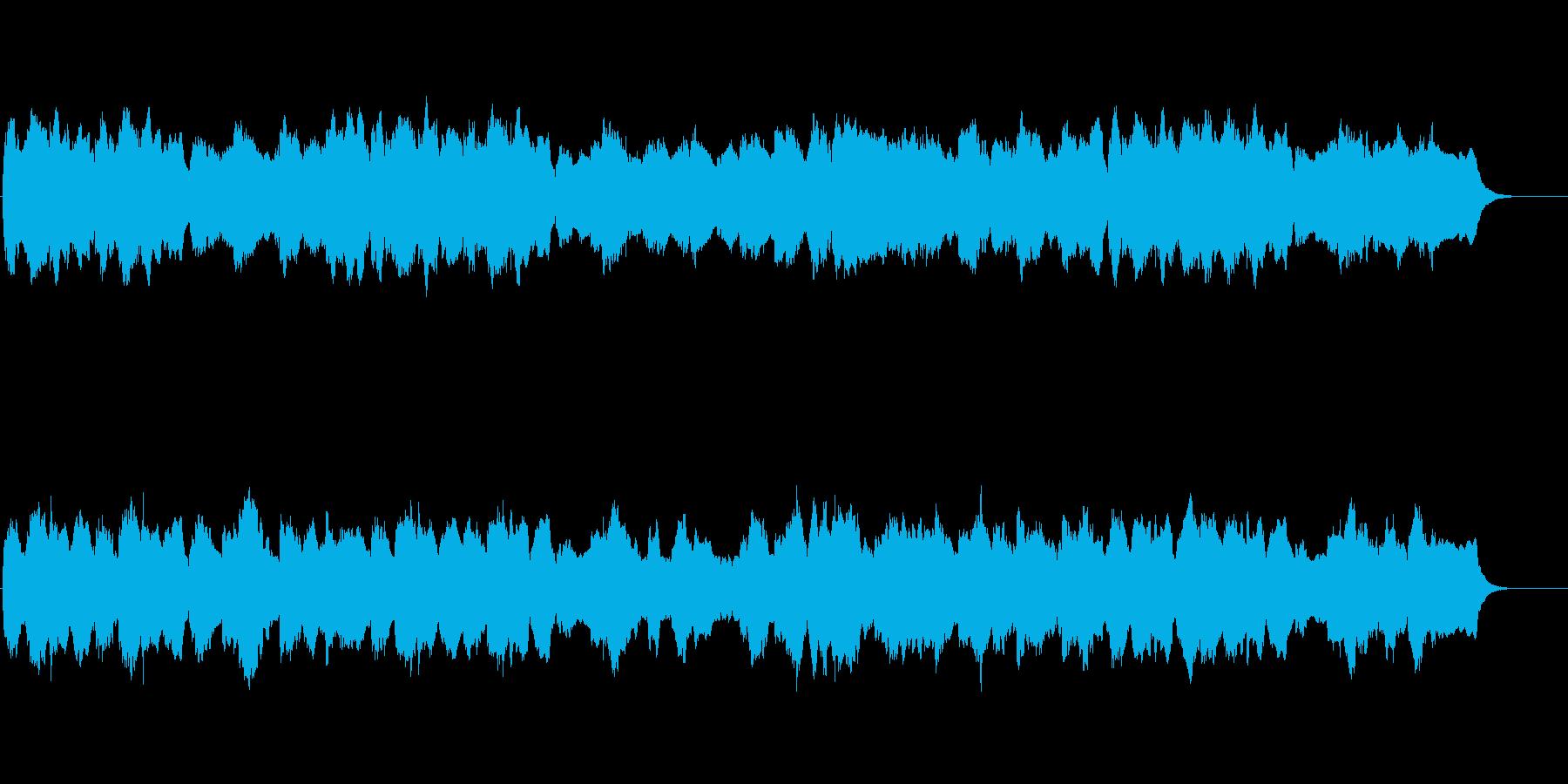 バロック風の四声の曲でお城のイメージの再生済みの波形