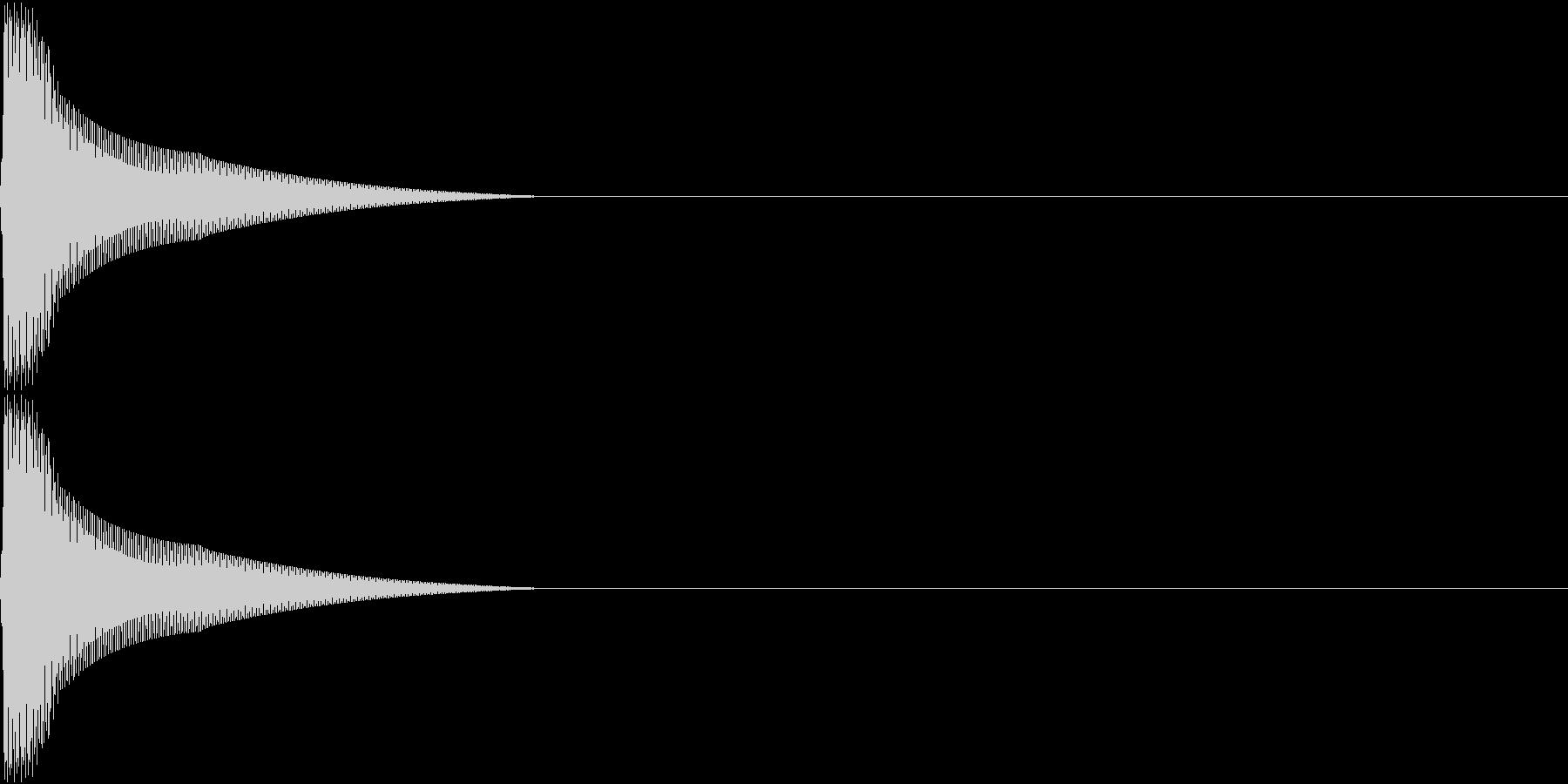 PureTouch アプリ用タッチ音 6の未再生の波形