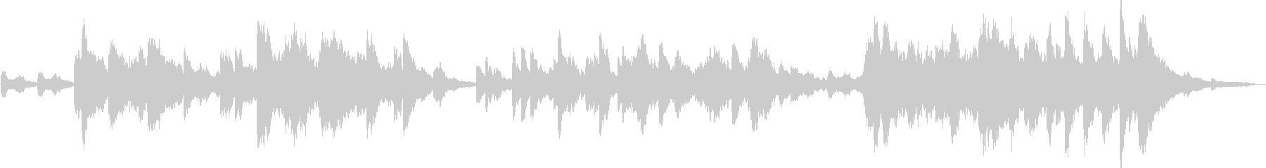 オルゴールとピアノによるヒーリングの未再生の波形