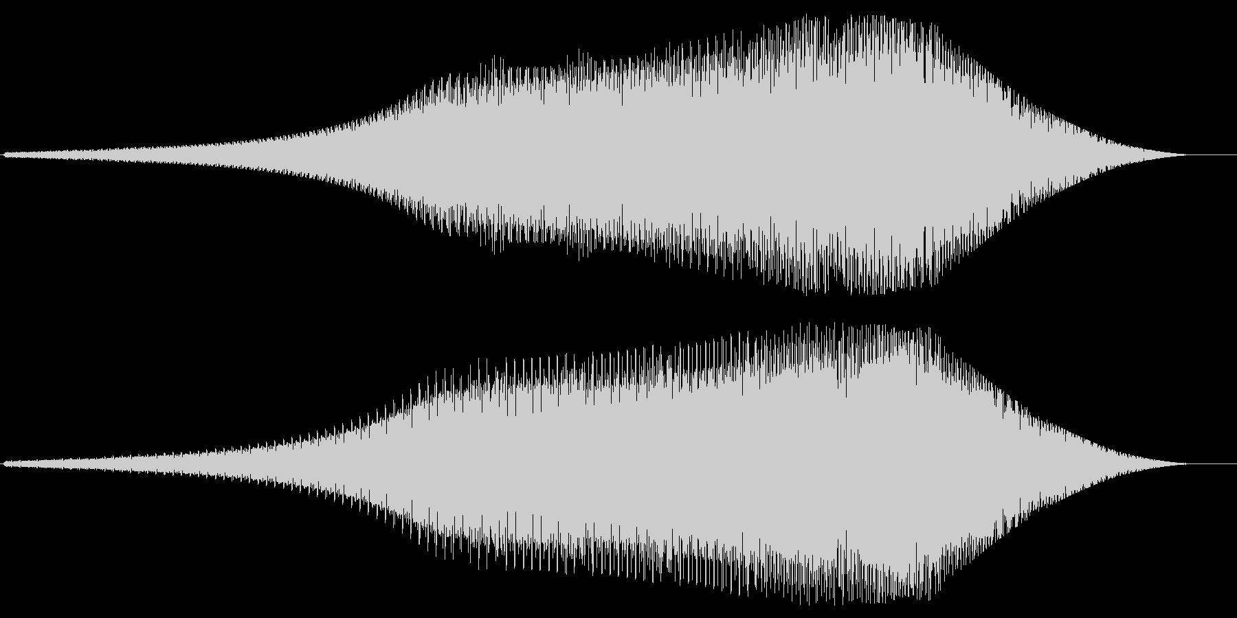 レーザービーム発射(バネのような音)の未再生の波形