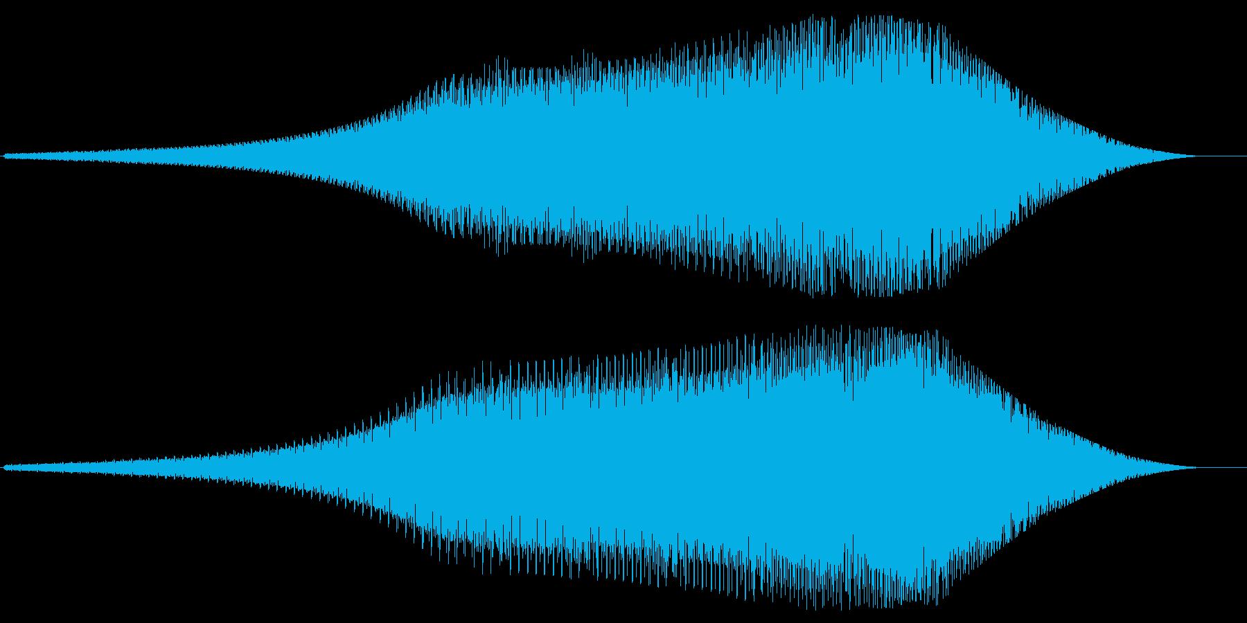 レーザービーム発射(バネのような音)の再生済みの波形