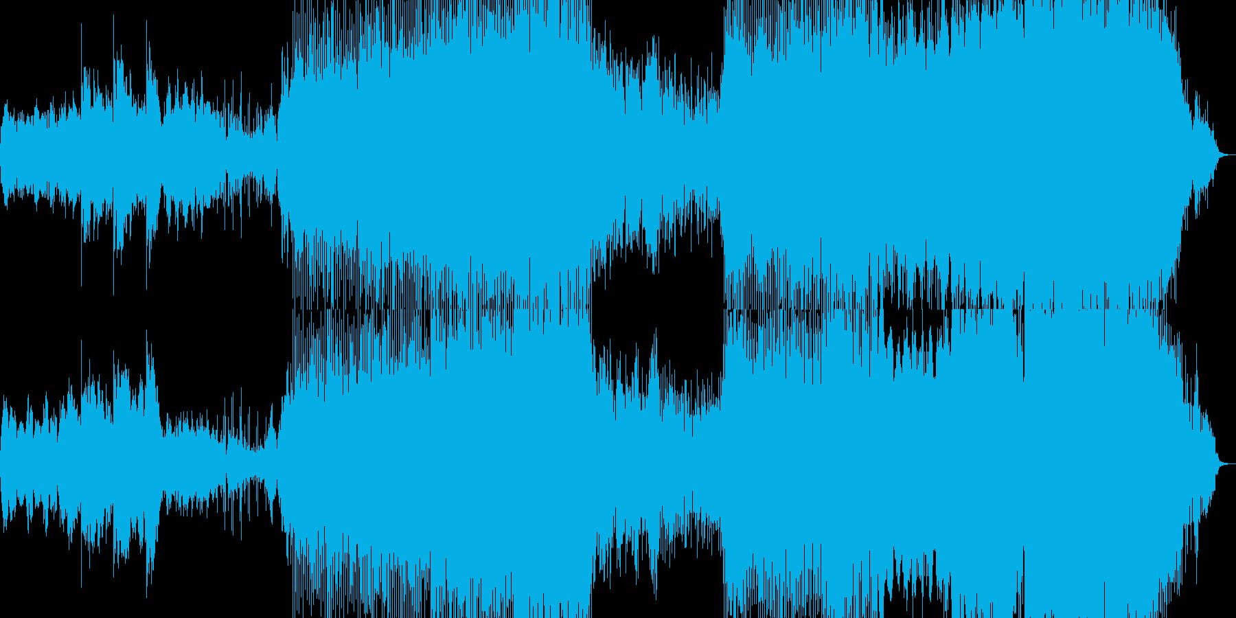 素朴なちょっと中華風の曲の再生済みの波形