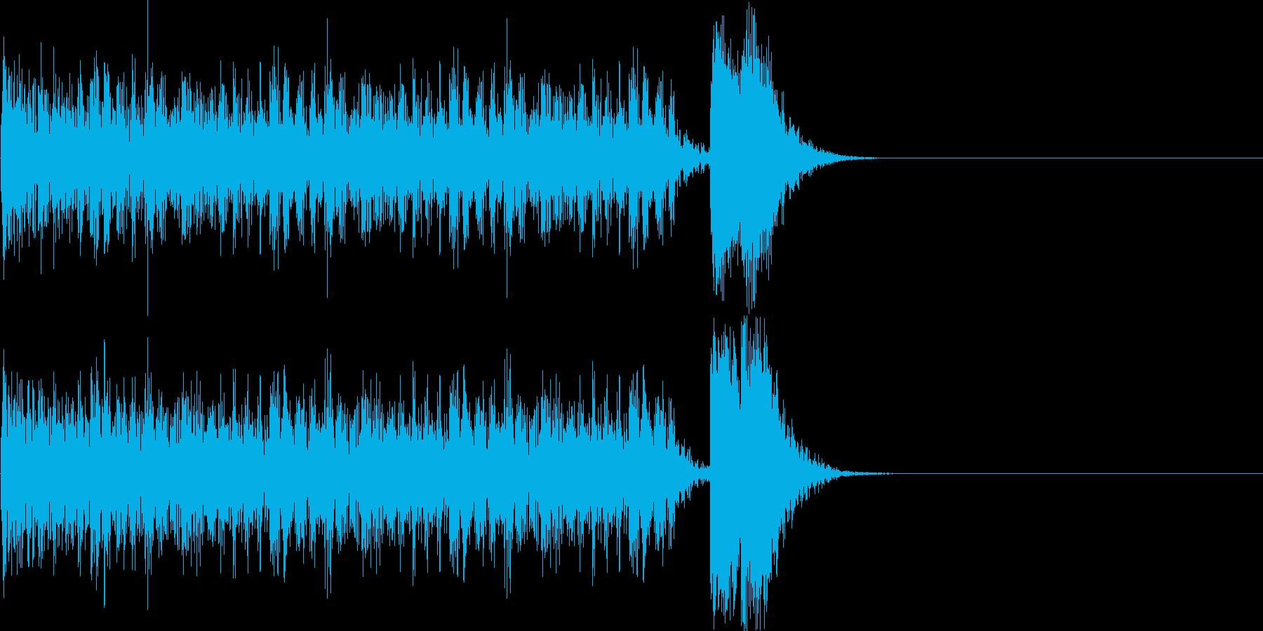 結果発表に使うSEの再生済みの波形