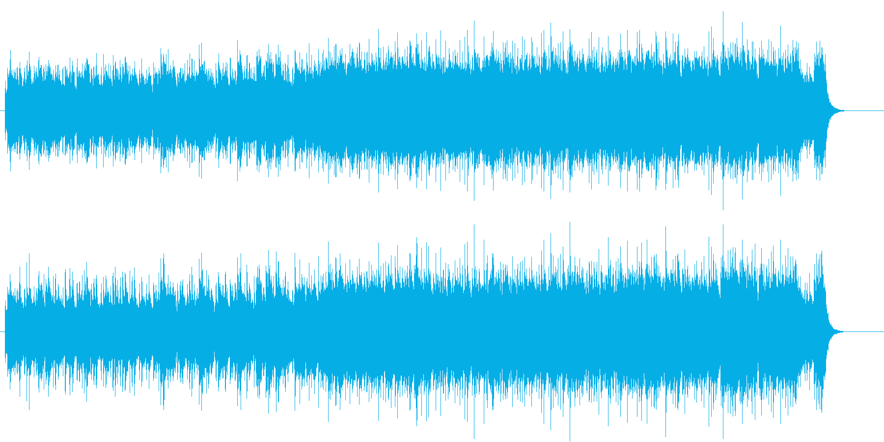 バイタリティー溢れるタフなロックの再生済みの波形