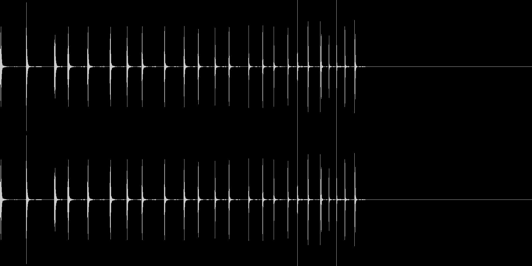 ゼンマイを巻くような効果音の未再生の波形