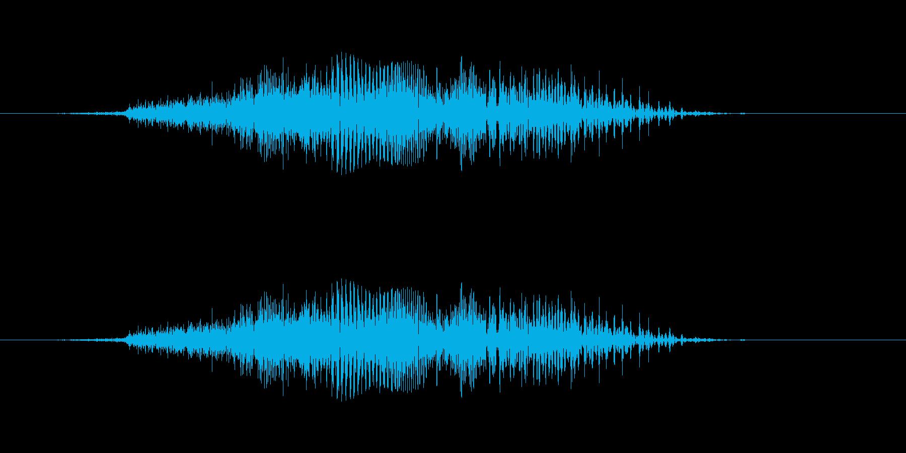 さぁ!! - 男性和風掛け声の再生済みの波形