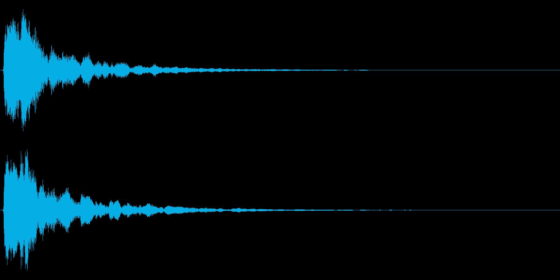 明るいテロップ音 ボタン音 決定音!4bの再生済みの波形