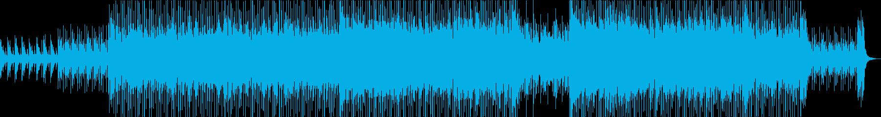 明るいムードのポップハウス曲の再生済みの波形