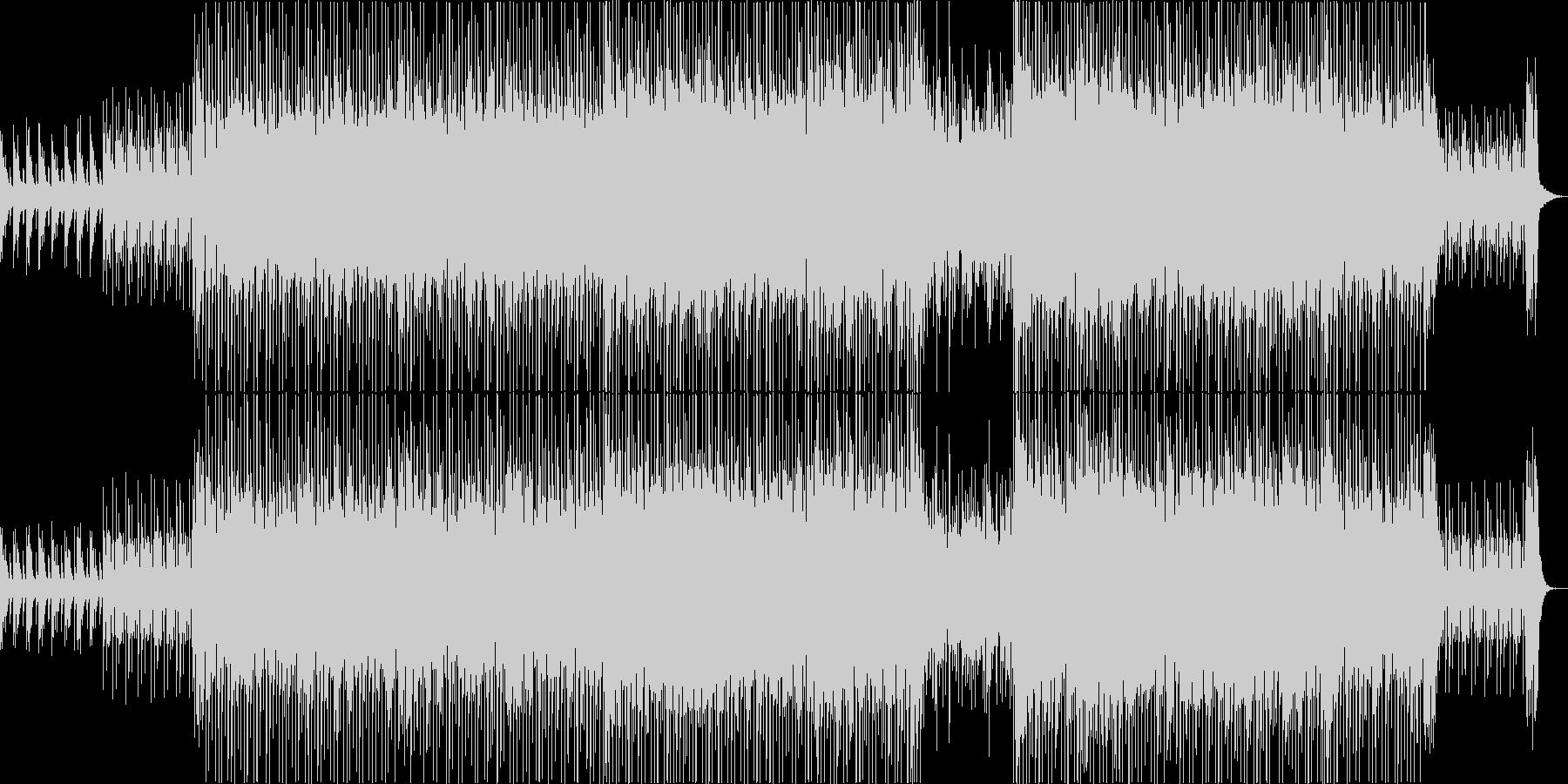 明るいムードのポップハウス曲の未再生の波形