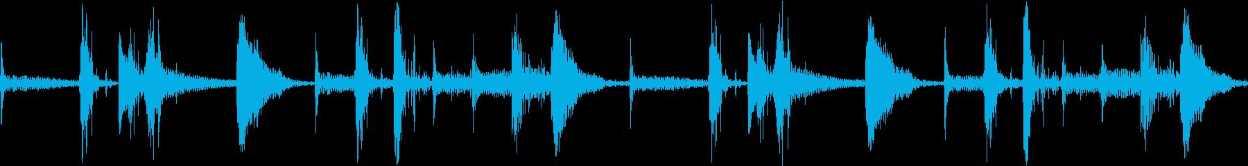 Ethno エスニックなアフリカンビートの再生済みの波形