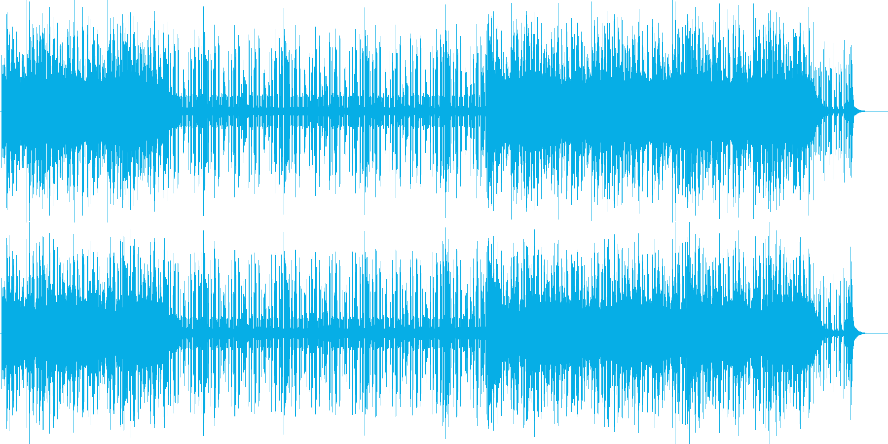 真夜中が似合うクール&不思議な感じの曲の再生済みの波形