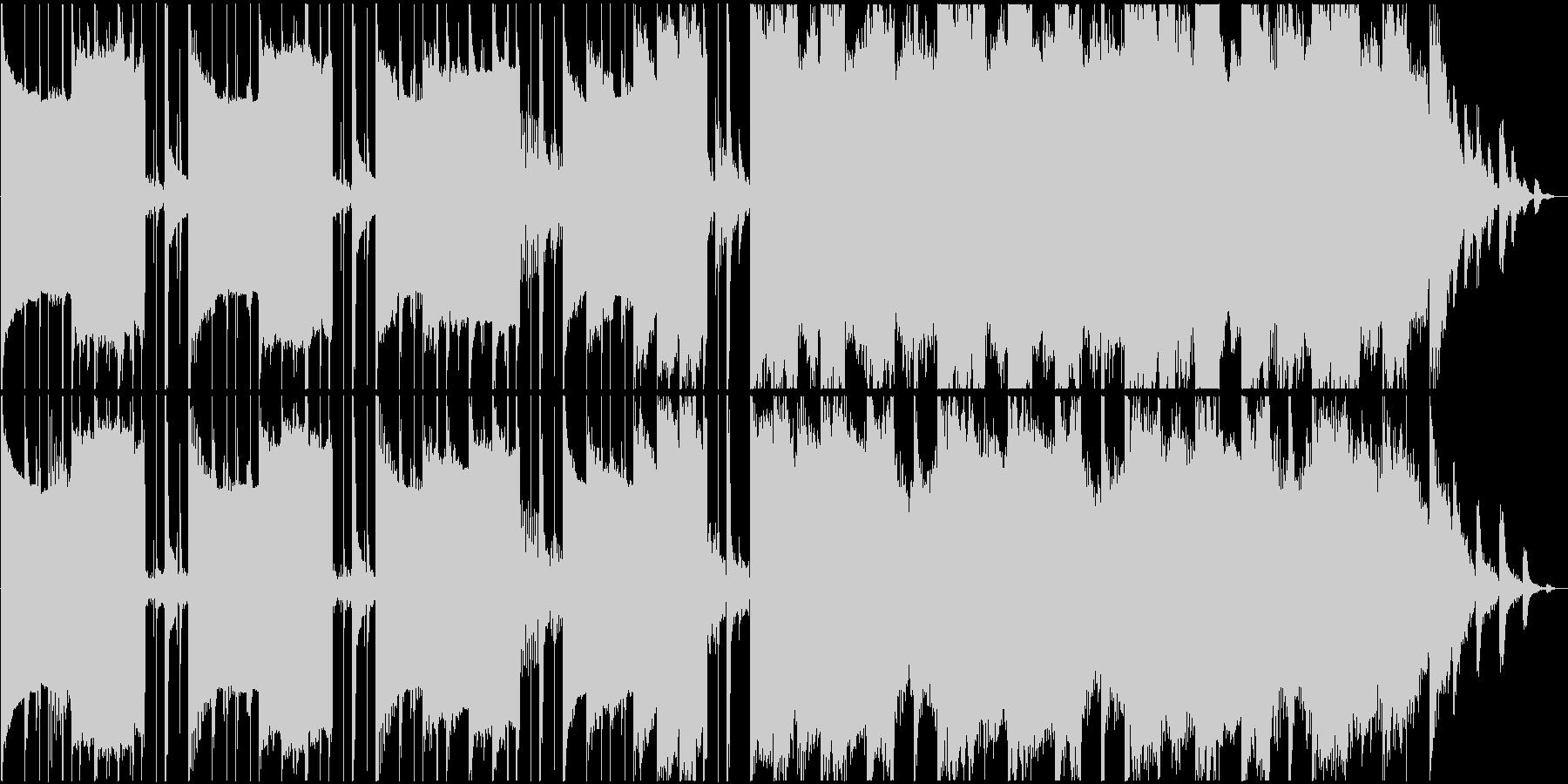 異次元空間に迷い込んだようなBGMの未再生の波形