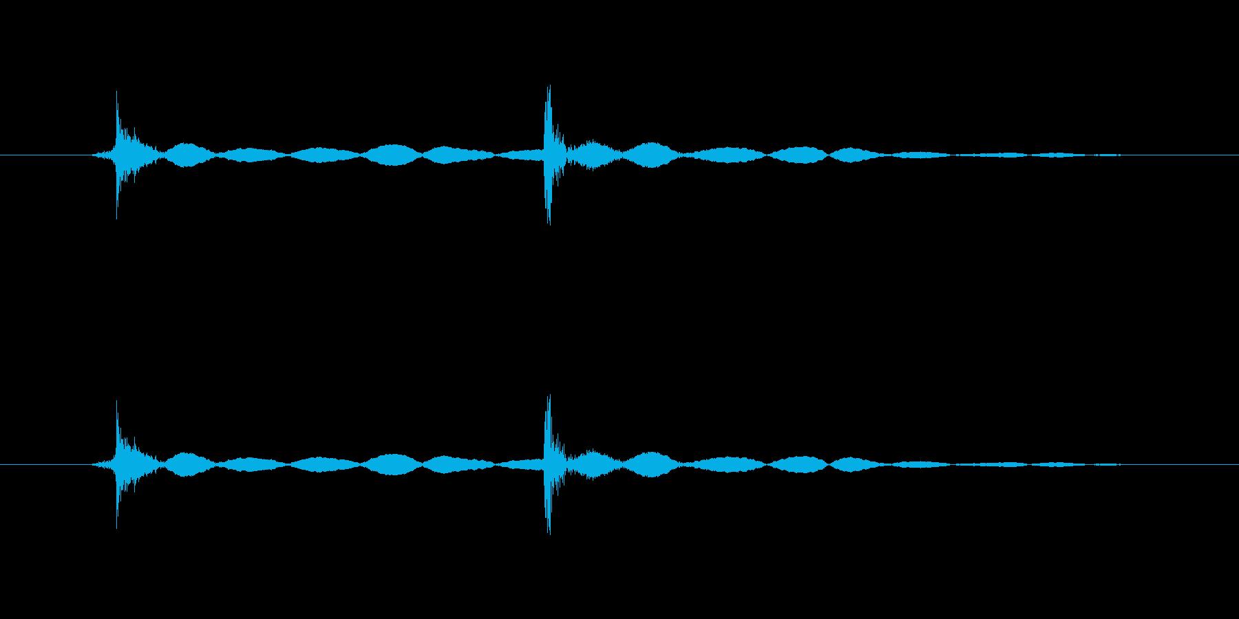 マウスのクリック音(カチッ、軽め)の再生済みの波形