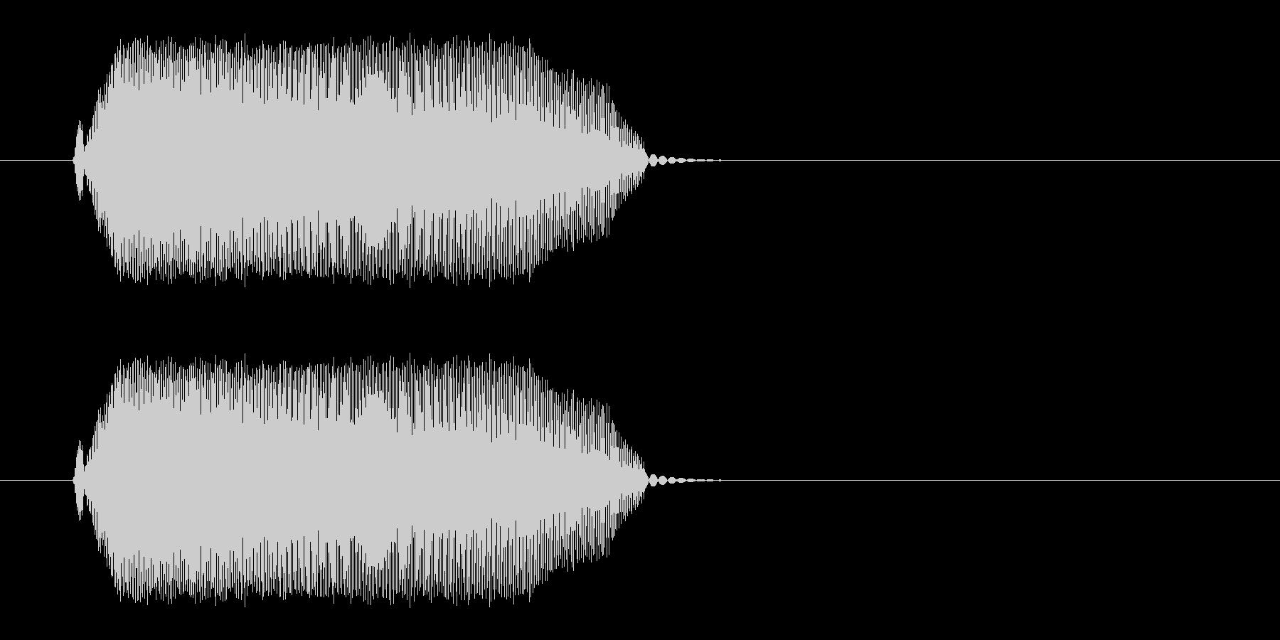 ピュッと鳴く小鳥の声の未再生の波形