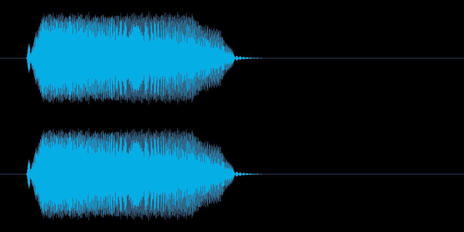 ピュッと鳴く小鳥の声の再生済みの波形