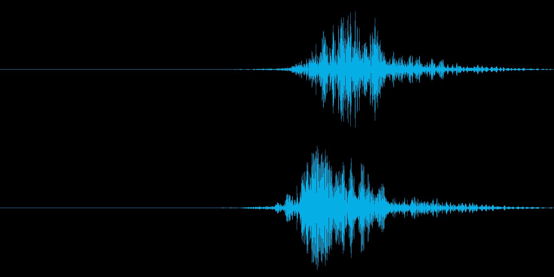 ヒュ!風切り音2の再生済みの波形