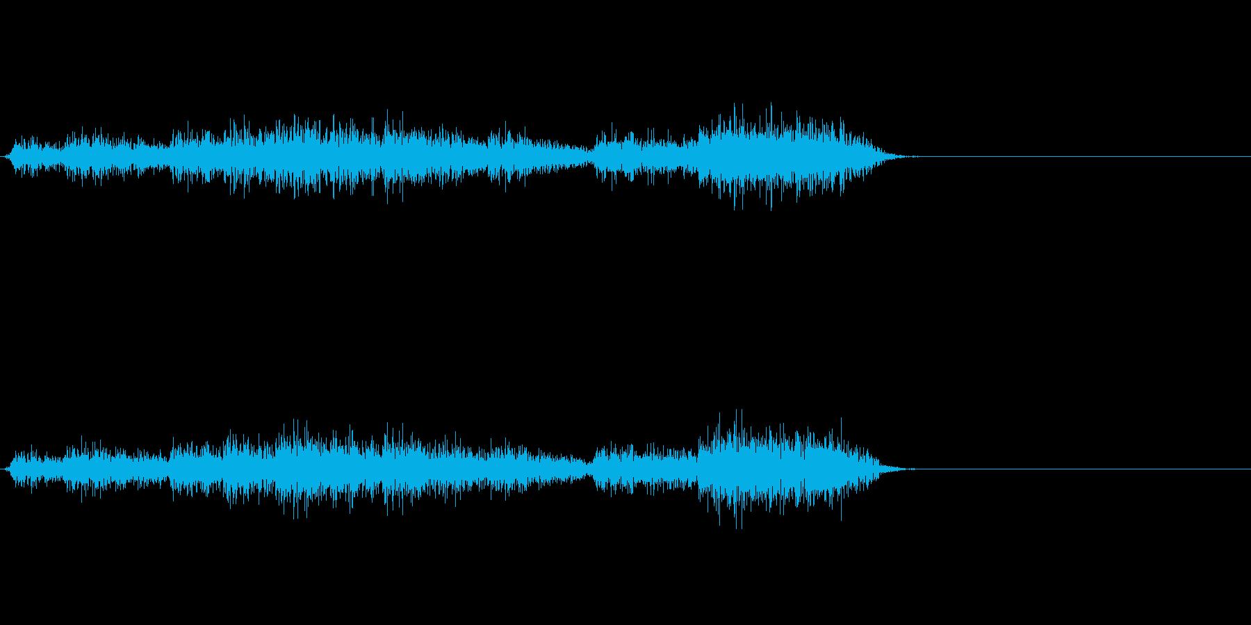 魔法 雷系などに適した効果音の再生済みの波形