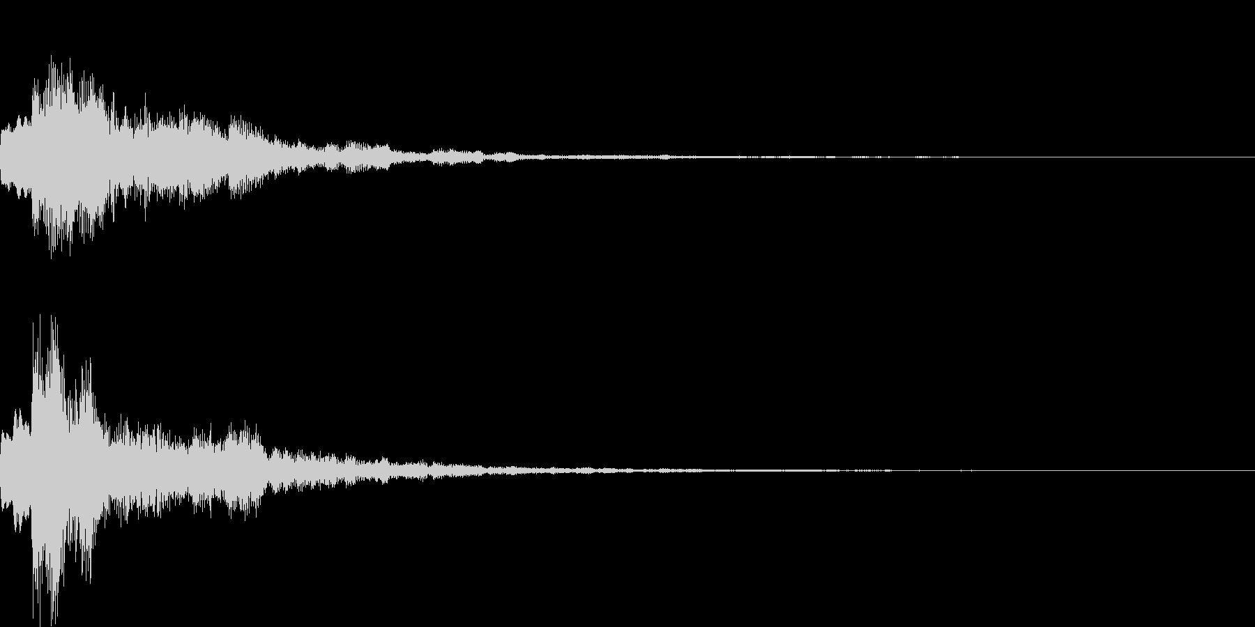 ポップ決定の未再生の波形