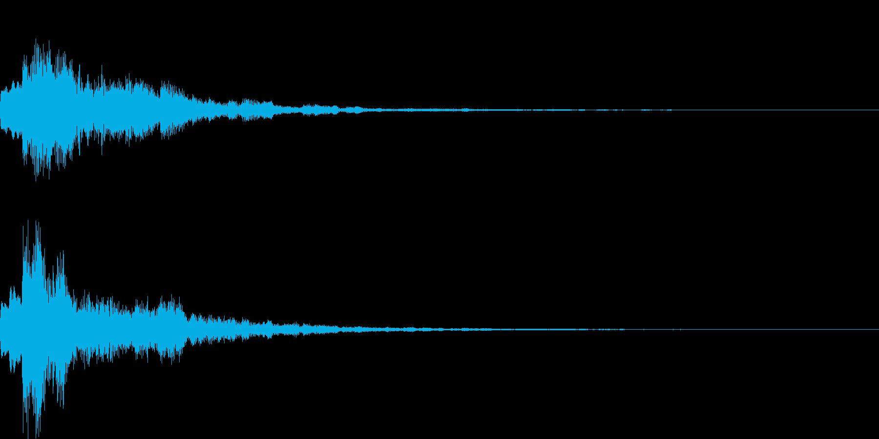 ポップ決定の再生済みの波形