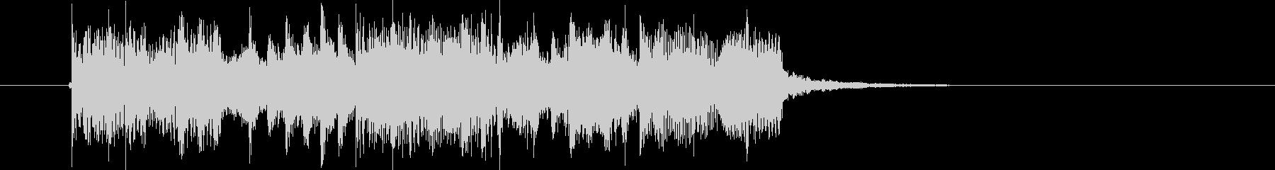 クールなグルーヴ感のあるテクノのジングルの未再生の波形