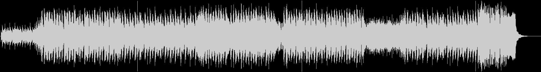 ピアノバッキングの疾走感あるEDMの未再生の波形