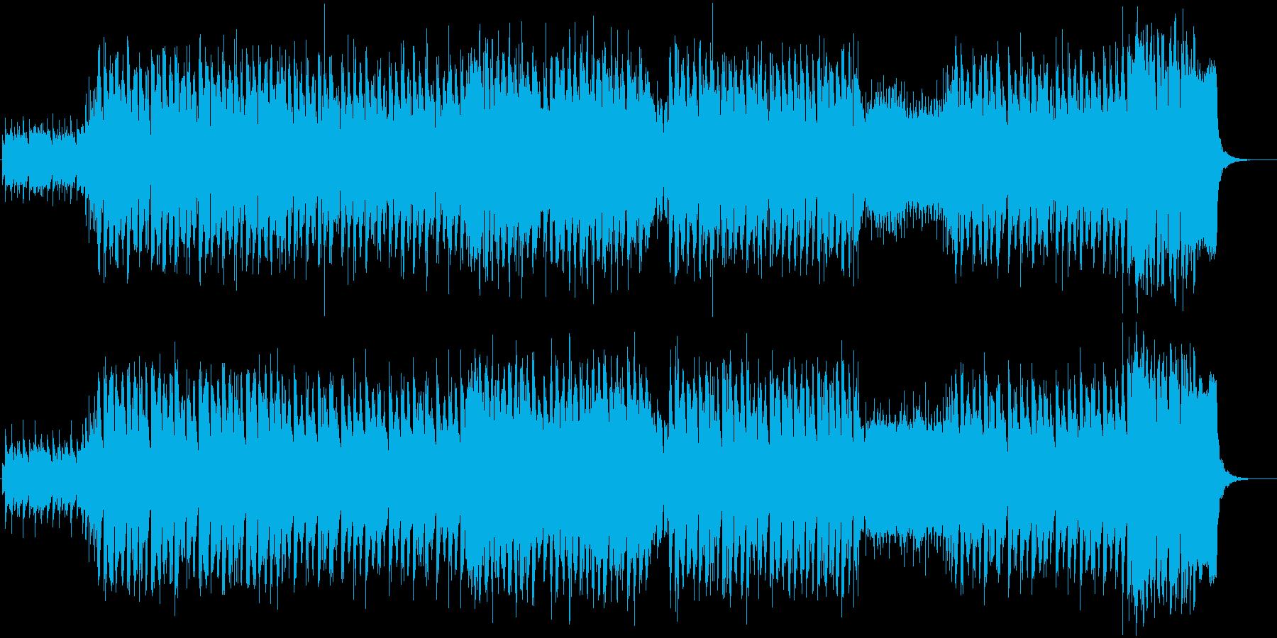 ピアノバッキングの疾走感あるEDMの再生済みの波形