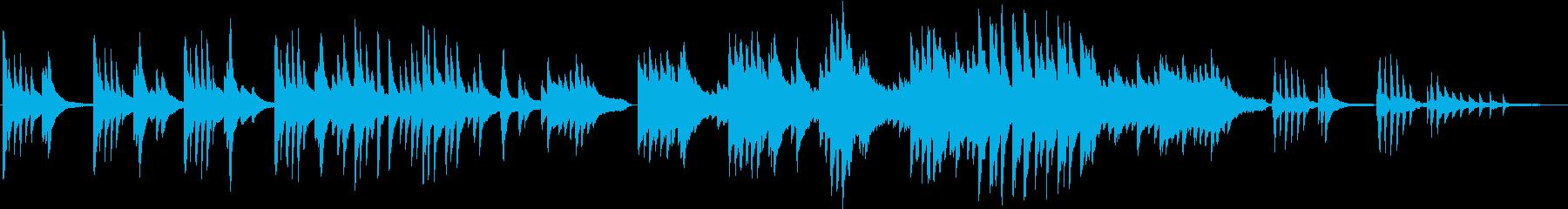 美しく感動的な和風ピアノバラードの再生済みの波形
