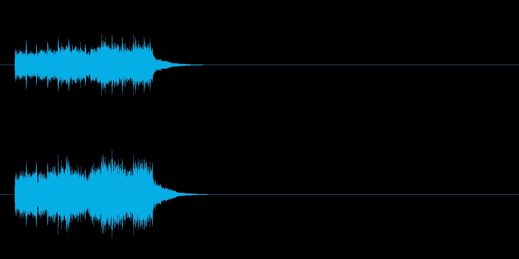 コミカルタッチジングルの再生済みの波形