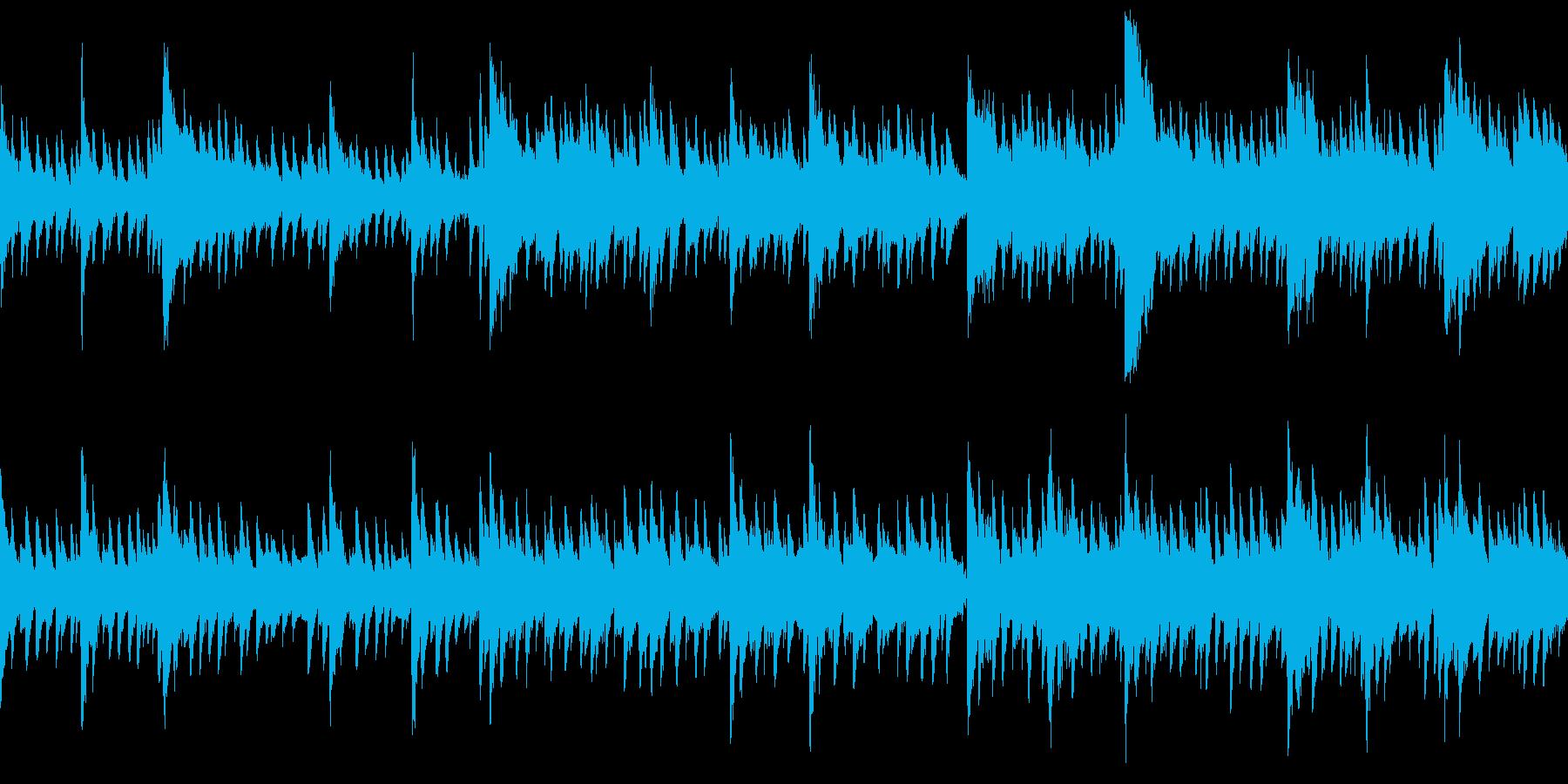 ゆったりとした切ない雰囲気のピアノ曲の再生済みの波形