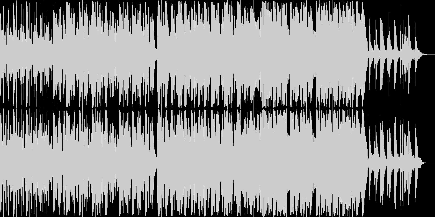 ピアノがメインのエレクトロニカの未再生の波形