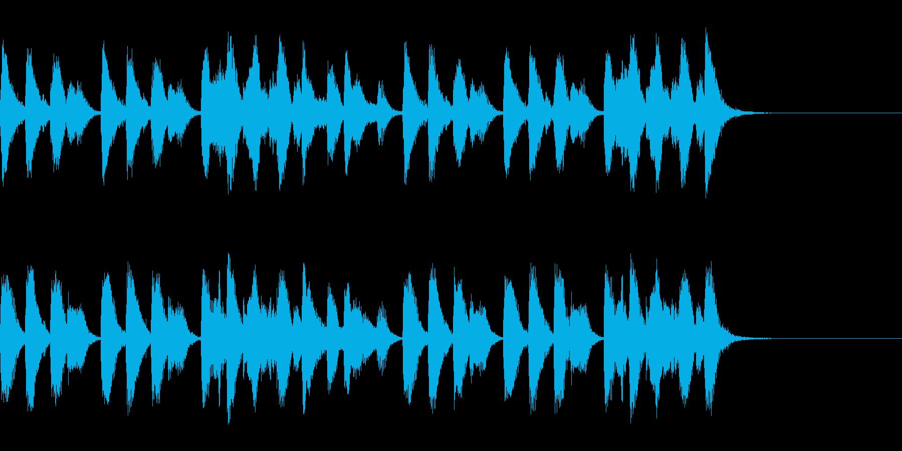 ラグタイムピアノ12sサウンドの再生済みの波形