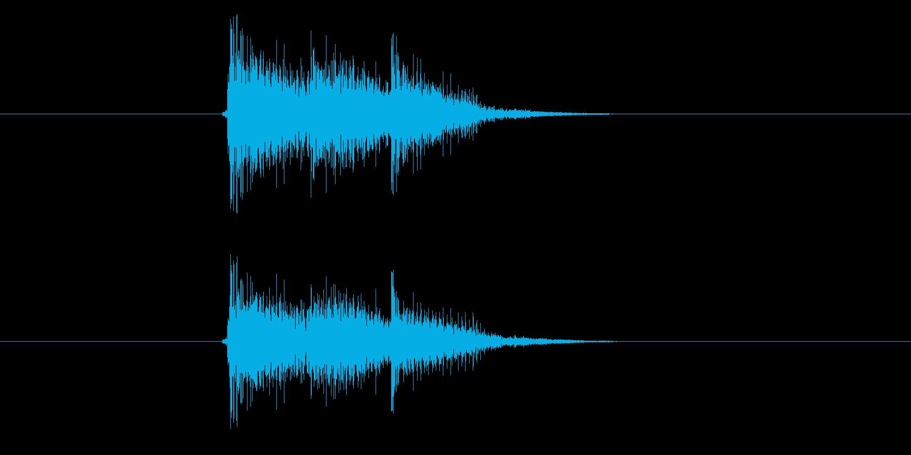 楽しい雰囲気のマーチによるジングル曲の再生済みの波形