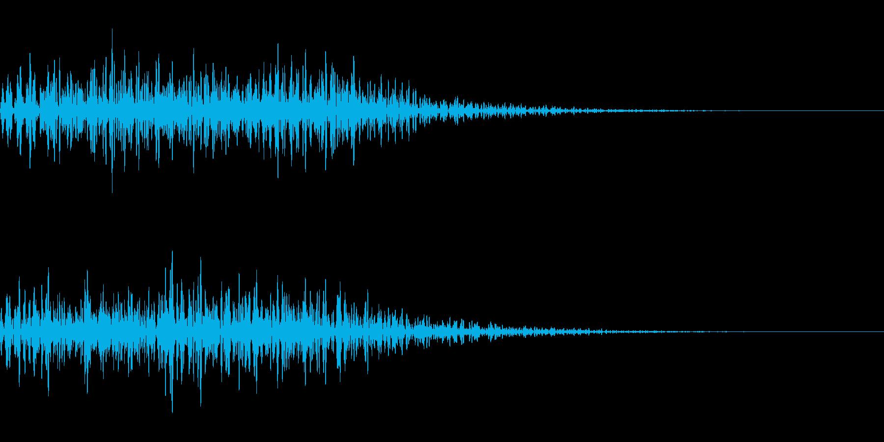 がおー(猛獣の唸り声)の再生済みの波形