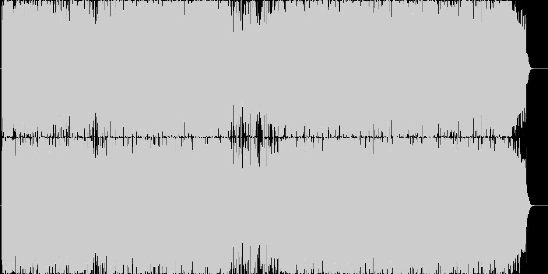 軽快で躍動的なポップロックの未再生の波形