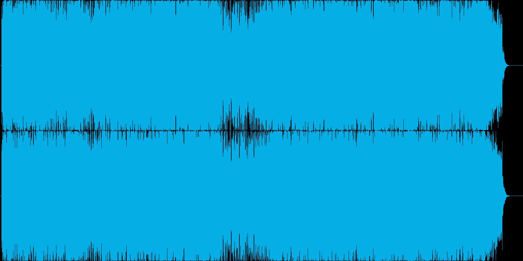 軽快で躍動的なポップロックの再生済みの波形