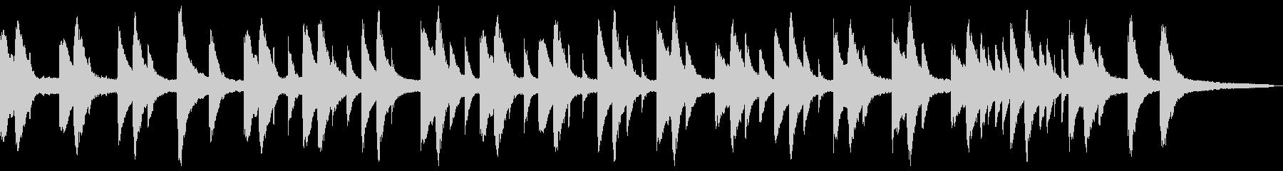 切ない浮遊感のあるピアノソロの未再生の波形