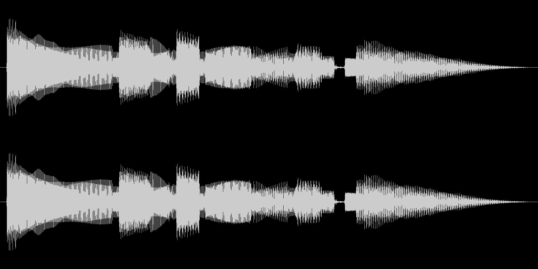 ちょっぴり切ない感じのベースのジングルの未再生の波形