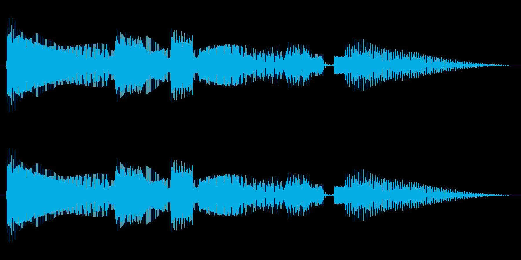 ちょっぴり切ない感じのベースのジングルの再生済みの波形