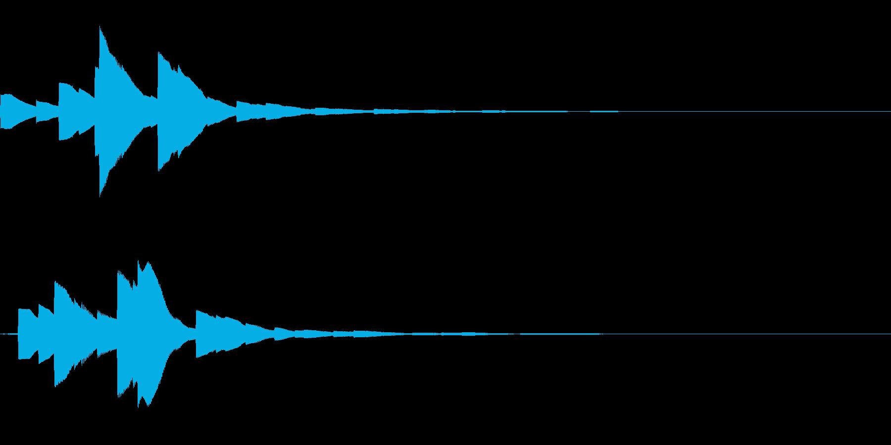 システム音17_シンセDZの再生済みの波形