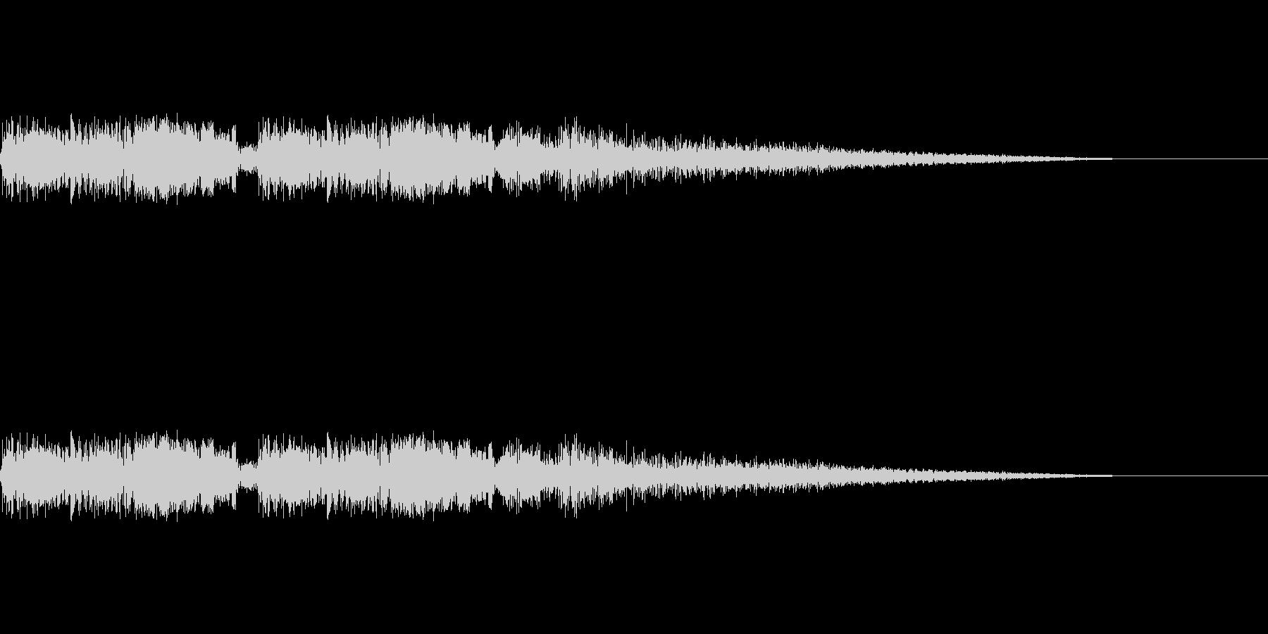 バキュンバキューン(銃を撃つ音)の未再生の波形