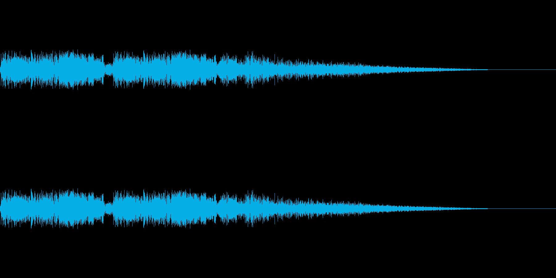 バキュンバキューン(銃を撃つ音)の再生済みの波形